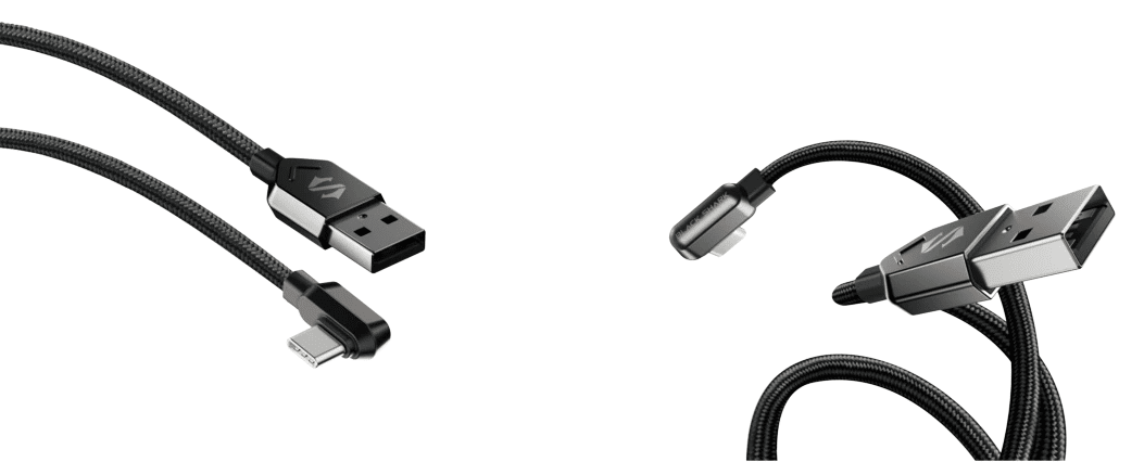 Black shark Right Angle USB A to Type-C Cable